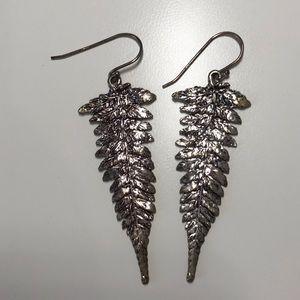 Justine Brooks fern earrings